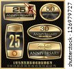 Anniversary Golden label - set - stock vector
