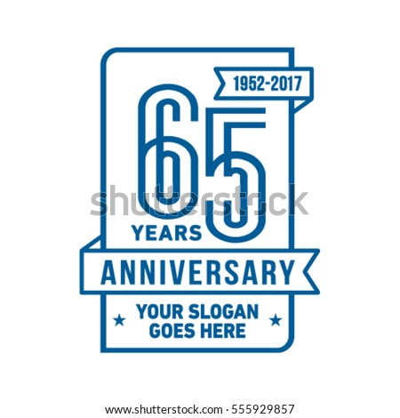 Anniversary logo. Vector and illustration. Celebration design template.