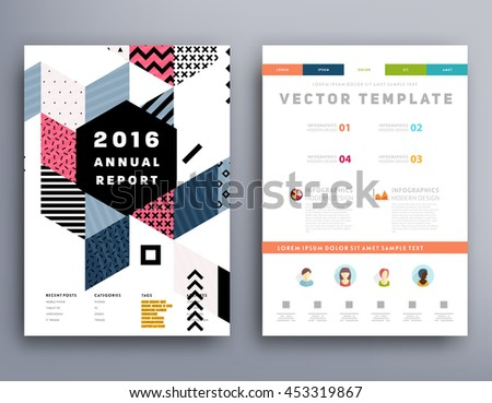 6 Annual Report Brochure Template Leaflet Vector 453319813 – Annual Report Brochure