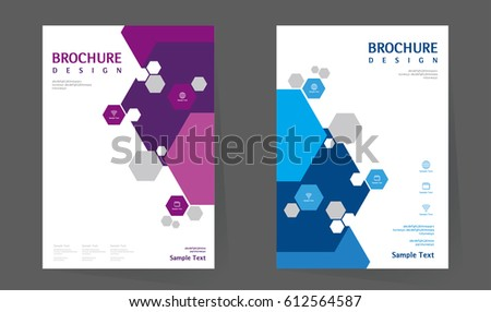 Annual Report Design Layout Book Cover Vector 615167249 – Simple Annual Report Template