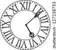 antique clock face - stock photo