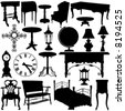 antique furniture vector - stock vector
