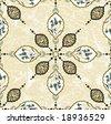 Antique ottoman grungy wallpaper vector tile design - stock vector