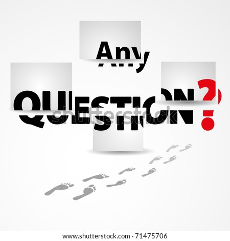 Any Questions Vector Illustration Stock Vector 71475706 ...