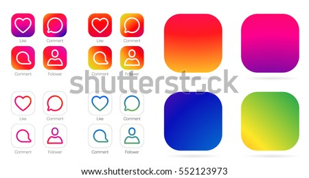 App icon template vector gradient fresh stock vector 474828688 app icon template vector gradient fresh color set pronofoot35fo Image collections