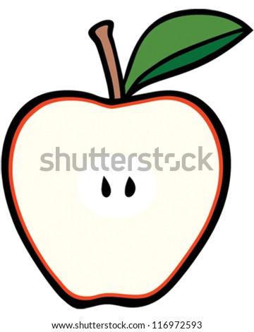 Apple Core - stock vector