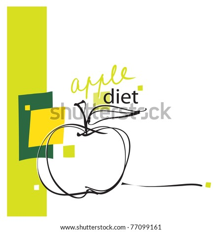 apple layout design apple icon page layout freehand drawing stock vector 77075119