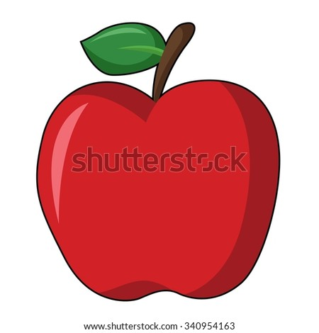Apple in White Background