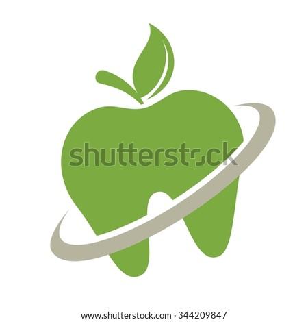 apple logo vector. apple logo vector. dental tooth vector