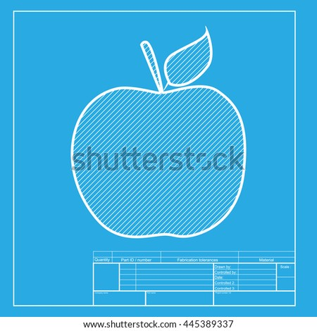 Abstract health blueprint apple idea healthy stock vector apple sign illustration white section of icon on blueprint template malvernweather Gallery