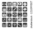 Application icons for smartphone and web. Vector illustration. - stock photo