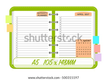 March 2017 Calendar Template Monthly Planner Vector – Daily Routine Template