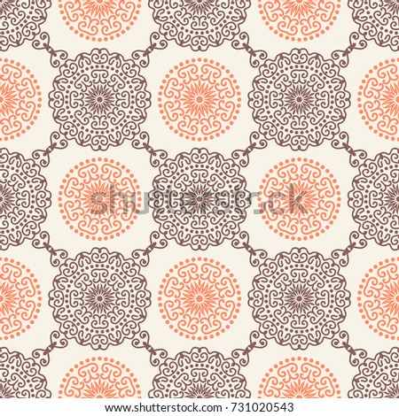 Mandala Tribal Background Medallion Pattern Abstract Stock