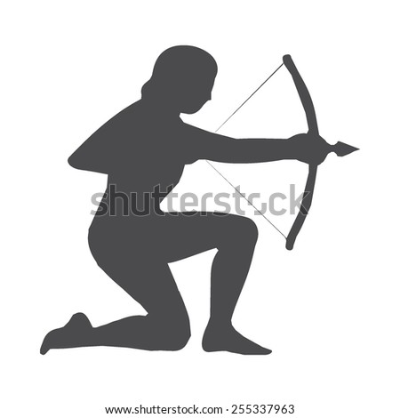 Archer vector image to be used in web applications, mobile applications and print media