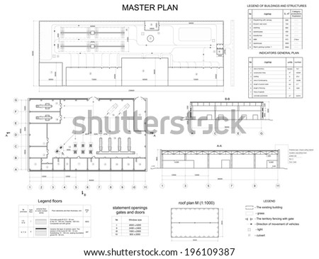 Architectural Drawing Font architectural drawing house autocad vector stock vector 94148677