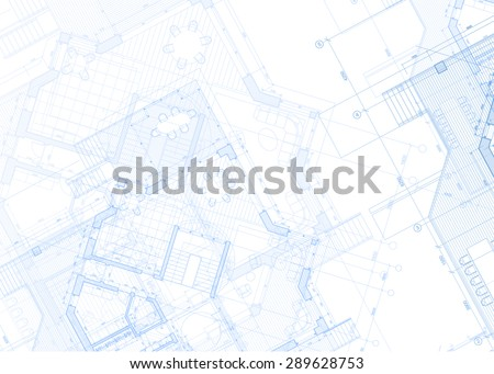 Architecture design: blueprint plans - vector illustration