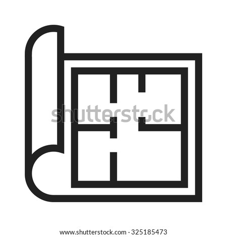 House plan icon floor plan vector stock vector 586378055 for Construction drawing apps