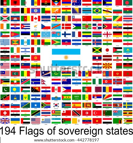 Argentina, collection of vector images of flags of the world