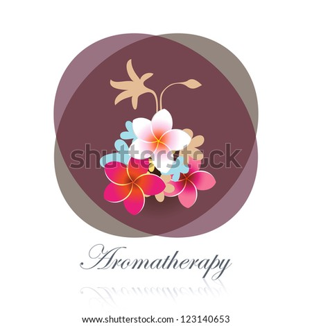 Aromatherapy flower bouquet spa design element.