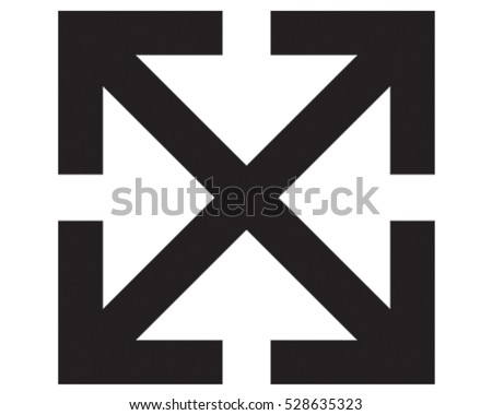 Arrow Icon. Letter X Vector Illustration.