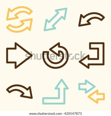 Go Sign Icon Set Arrow Doodl...
