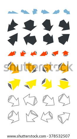 Arrows icons set.  Vector design elements EPS8