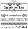 Art-deco set of templates - stock vector