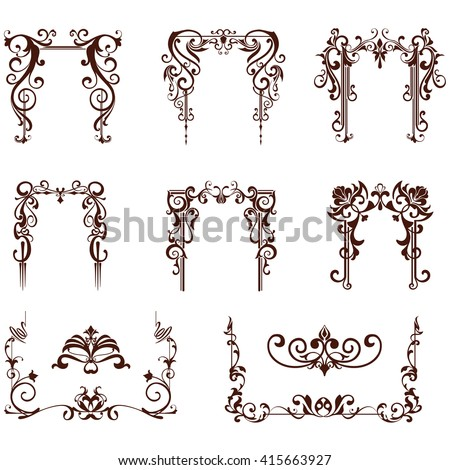 Art Deco Design Elements art deco design elements vintage ornaments stock vector 599530127
