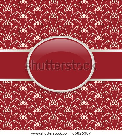 Art vector retro red ornate cover