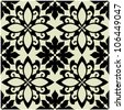 art vintage vector seamless pattern background in black and white - stock vector