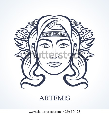 Artemis, the greek goddess of hunting