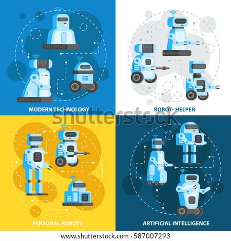 Artificial Intelligence Modern Robot Illustration