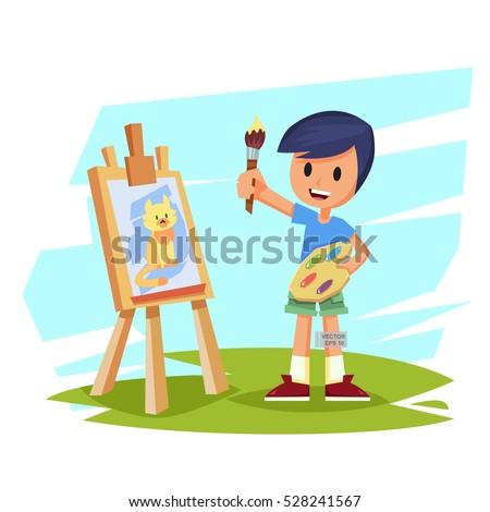 Illustration Shows Set Positions Schoolboy School Stock