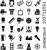 Arts and enterteinment icons - stock vector