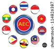 Asean Economic Community, AEC, Vector - stock photo