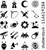 astronomy and space icons - stock vector