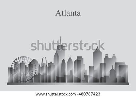 Atlanta City Skyline Vector