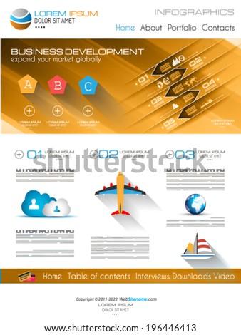home business layout vector brochure flyer design layout templatetravel stock vector