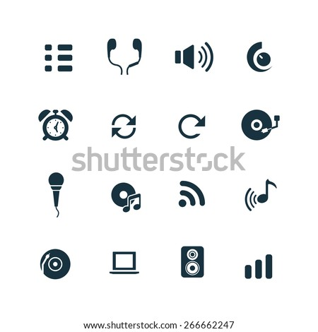 audio Icons Vector set