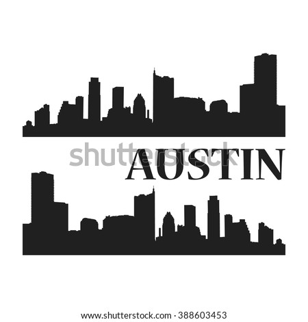 austin city silhouette the capital of the us state of texas and the seat of