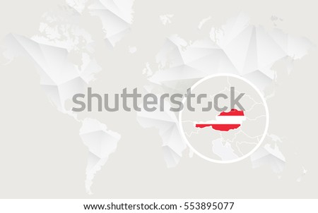 Infographic Austria Detailed Map Austria Flag Stock Vector - World map austria
