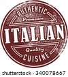 Authentic Italian Restaurant Food Menu Stamp