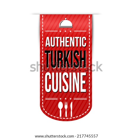 Vintage bussiness lunch poster vector illustration stock for Authentic turkish cuisine