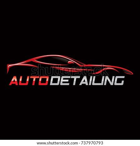 Auto Detailing Car Logo Stock Vector 680868166 Shutterstock