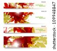 Autumn banner, vector illustration eps10 - stock photo