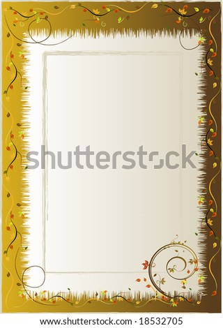 Autumn floral background - vector illustration