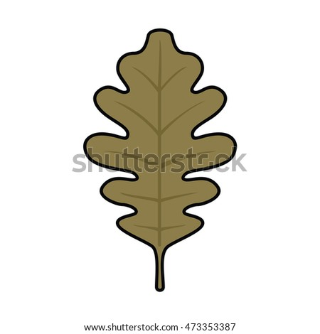 Oak Leaf Vector Illustration Icon Black Stock Vector ...