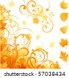 Autumn ornate elements - stock vector