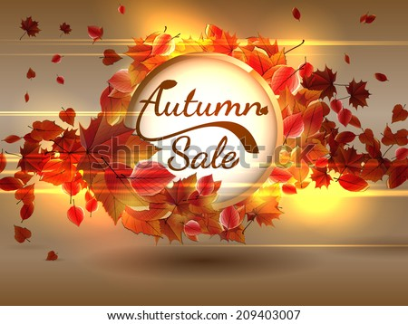 Autumn Sale background with copyspace. plus EPS10 vector file