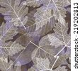 Autumn seamless pattern with leaves. Vector, EPS 10.  - stock